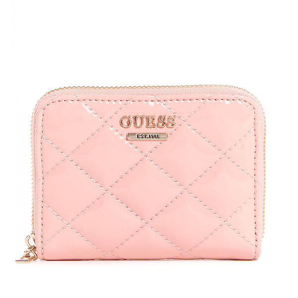 billetera guess rosada